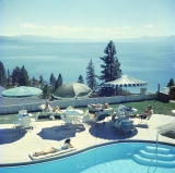 Slim Aarons - Relaxing at Lake Tahoe