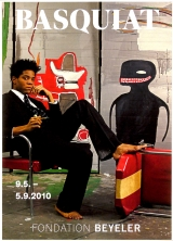 Jean-Michel Basquiat - Studio Portrait Poster advertising the Jean-Michel Basquiat exhibition held by the Beyeler Foundation  in 2010. The largest retrospective ever seen in Europe on the artist, the exhibition showed more than 100 works, which traced Basquiat's unique artistic development and reflected on his place in art history, framed