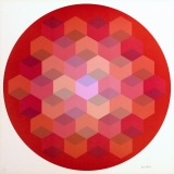 Jim Bird - Untitled 1 Tribute to Vasarely. Signed and editioned