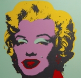 "Andy Warhol - Marilyn Monroe Sunday B. Morning screenprint after Andy Warhol. Stamped on verso ""published by Sunday B. Morning"" and ""fill in your own signature""."