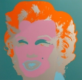 "Andy Warhol - Marilyn Monroe Blue - Sunday B. Morning screenprint after Andy Warhol. Stamped on verso ""published by Sunday B. Morning"" and ""fill in your own signature""."