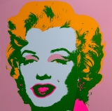 "Andy Warhol - Marilyn Monroe Orange - Sunday B. Morning screenprint after Andy Warhol. Stamped on verso ""published by Sunday B. Morning"" and ""fill in your own signature"""