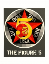 Robert Indiana - The Figure 5 Screenprint 1997, Edition of 395. Signed and numbered in pencil