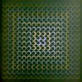 Jim Bird - Untitled 2 Tribute to Vasarely. Signed and editioned