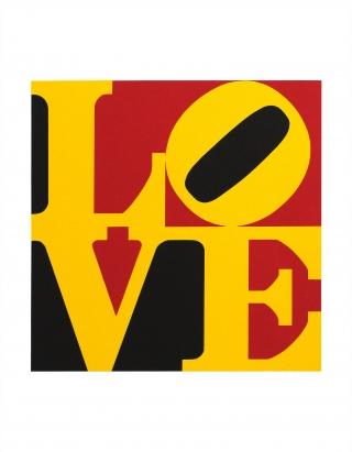Robert Indiana - Die Deutsch Liebe (The German Love) Screenprint 1997, Edition of 395. Signed and numbered in pencil