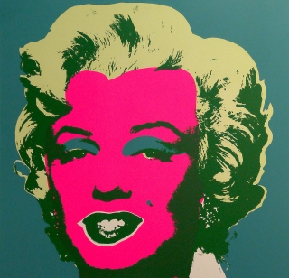 "Andy Warhol - Marilyn Monroe Green - Sunday B. Morning screenprint after Andy Warhol. Stamped on verso ""published by Sunday B. Morning"" and ""fill in your own signature""."